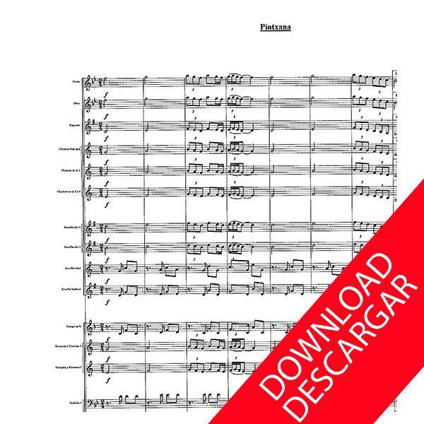 Pintxana - Antxon de Pedro - Partitura para Banda