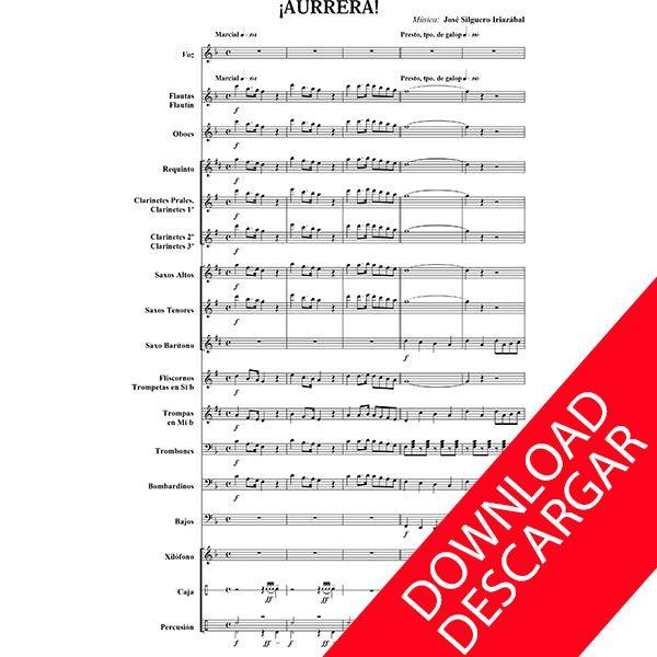 Aurrera - José Silguero - Partitura para Banda