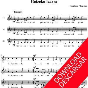 Goizeko izarra - Partitura PDF para Coro