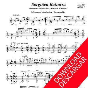 Sorginen batzarra - José de Azpiazu - Partitura para guitarra