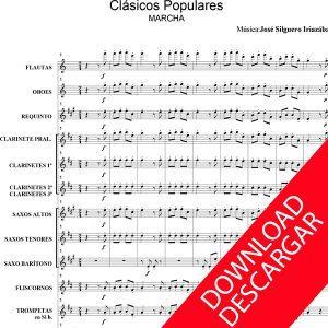 Clásicos populares - José Silguero - Partitura para banda