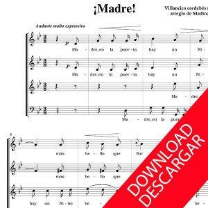 Madre! - Arr.: de Aita Madina - PARTITURA CORO PDF