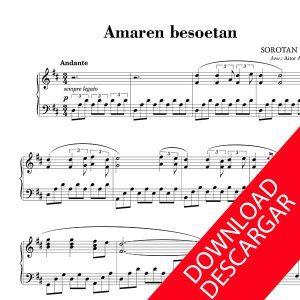 Amaren Besoetan - Sorotan bele - PARTITURA PIANO