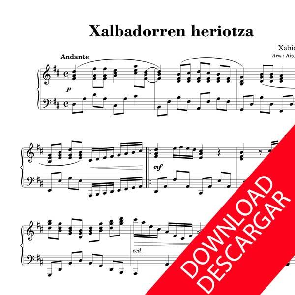 Xalbadorren heriotza - PARTITURA PIANO - XABIER LETE