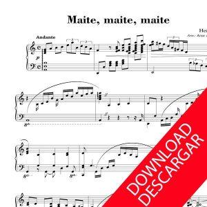 Maite, maite, maitia - Urko - PARTITURA PIANO