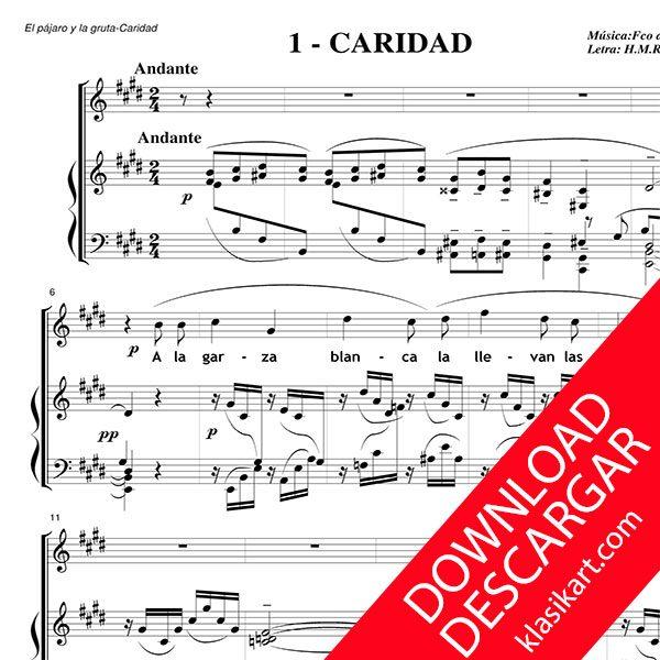 El pájaro y la gruta - Aita Madina - PARTITURA PDF