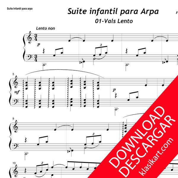 Suite infrantil para Arpa - Aita Madina - Partitura Gratis en descarga PDF