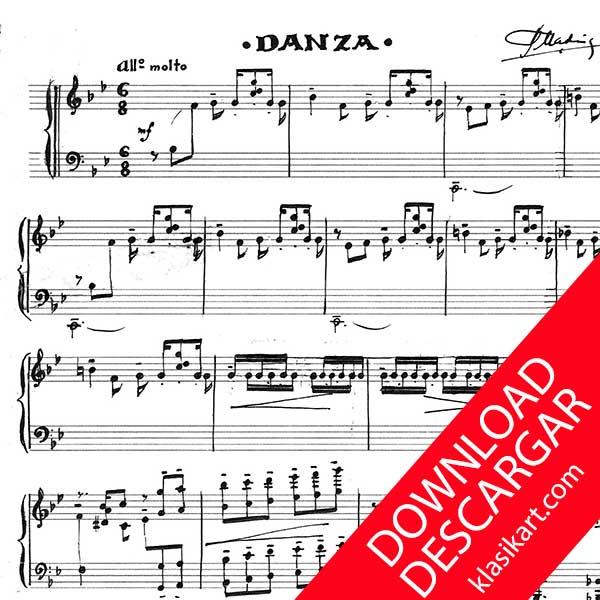 Danza para piano - Aita Madina - PARTITURA en pdf