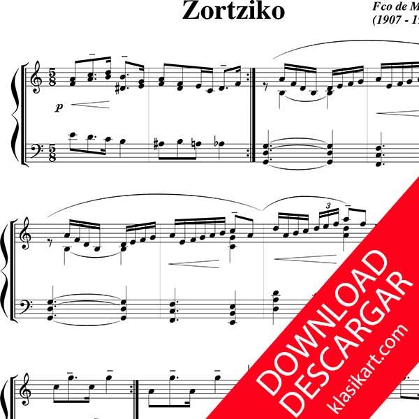 Zortziko para PIANO en PDF - Aita Madina